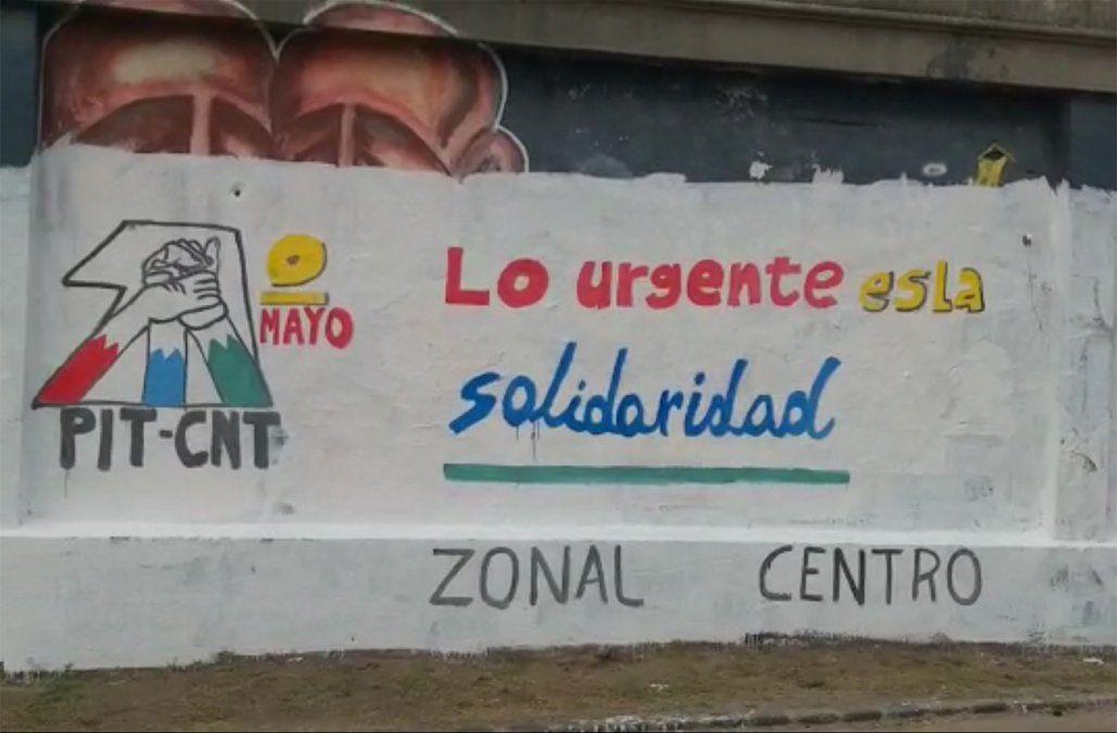 PIT-CNT salió a pedir disculpas luego que una brigada tapó el mural de un artista