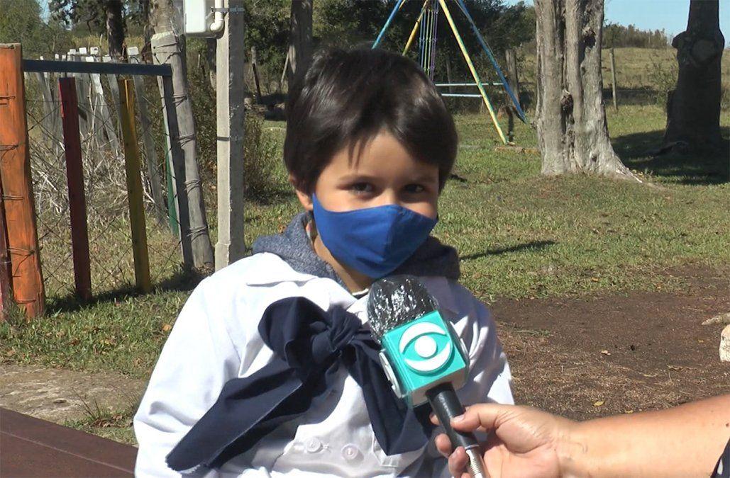 Renzo, un alumno de una escuela rural que nos enseña cómo combatir al coronavirus