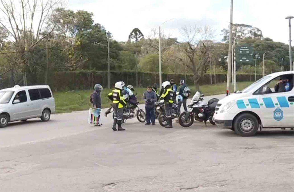 Tres personas detenidas y 35 motos incautadas en un operativo en Casavalle