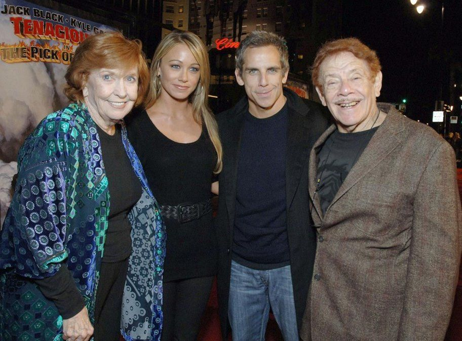 Jerry en familia: con su esposa por más de 60 años