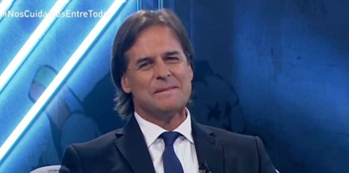 Lacalle Pou en el programa del periodista Ignacio Álvarez en Canal 4