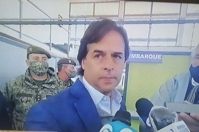 El presidente habló en rueda de prensa apenas llegó a Rivera