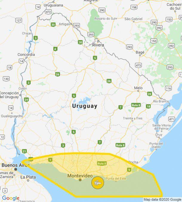 Alerta amarilla por vientos fuertes y persistentes en la costa sur del país