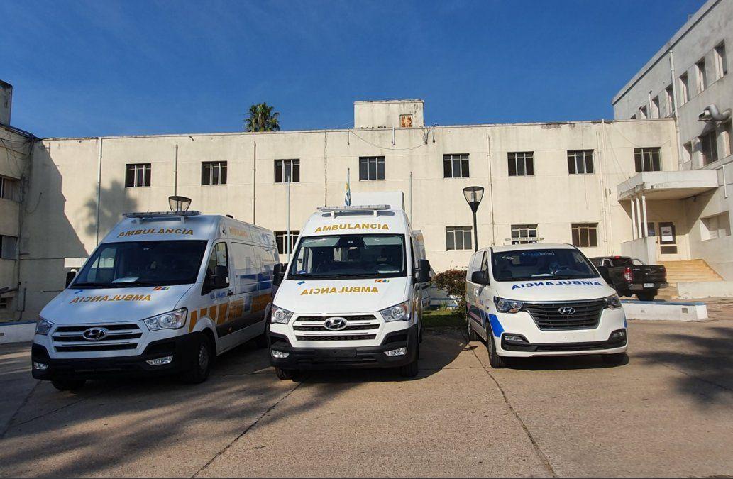Tres nuevas ambulancias en Cerro Largo, dos especiales para trasladar positivos Covid-19