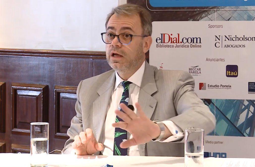 Miguel Loinaz durante el V Encuentro de Abogados