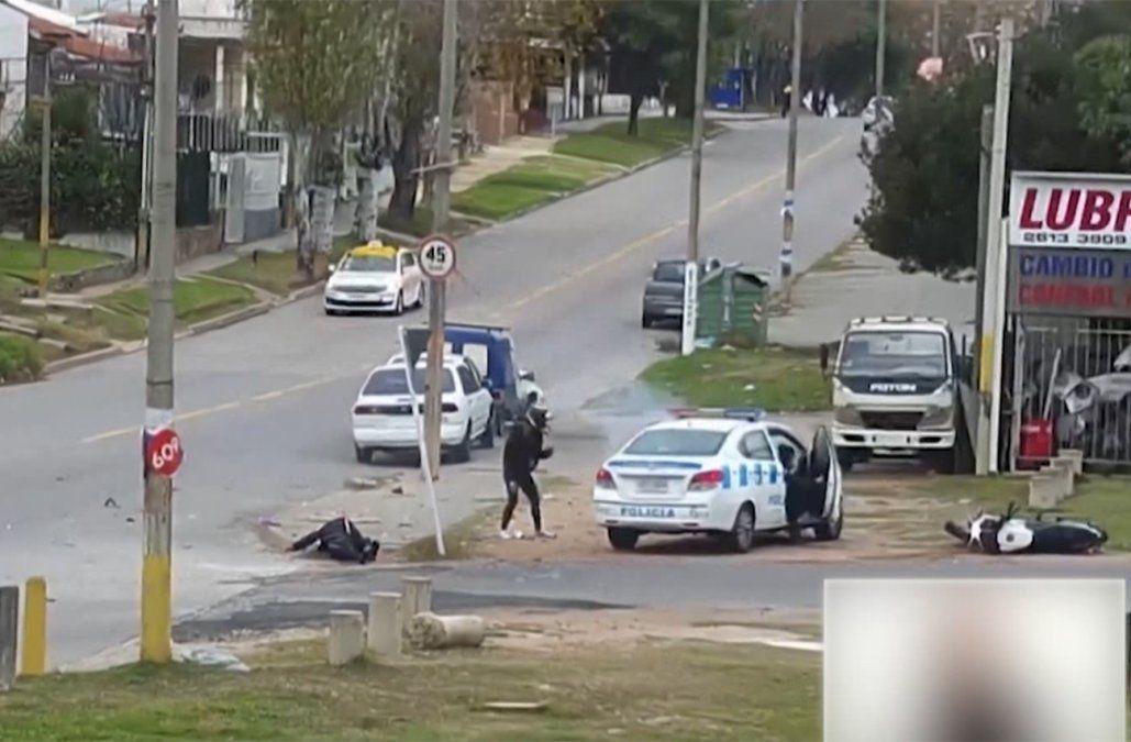 Dos delincuentes en moto fueron perseguidos y detenidos por la policía
