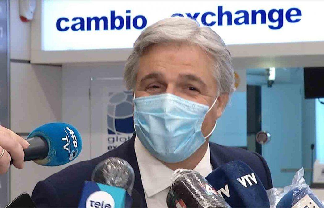 Francisco Bustillo llegó a Uruguay y fue recibido por Lacalle Herrera