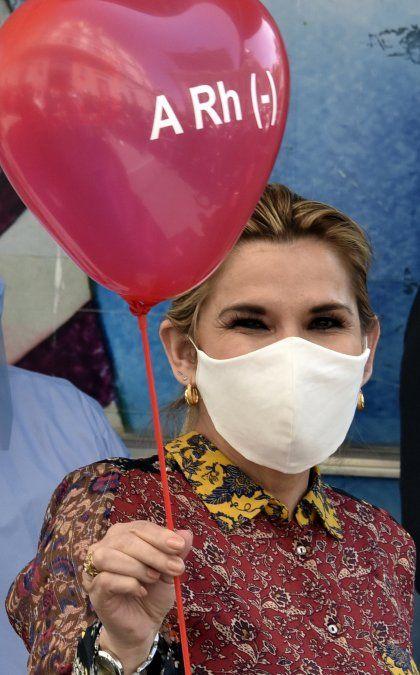 La presidenta donó sangre en el marco de una campaña nacional el 12 de junio último