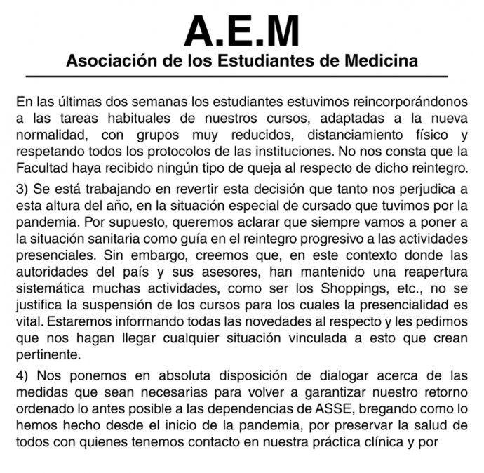 Gremio de estudiantes deslinda responsabilidad y critica a los nuevos médicos por su festejo