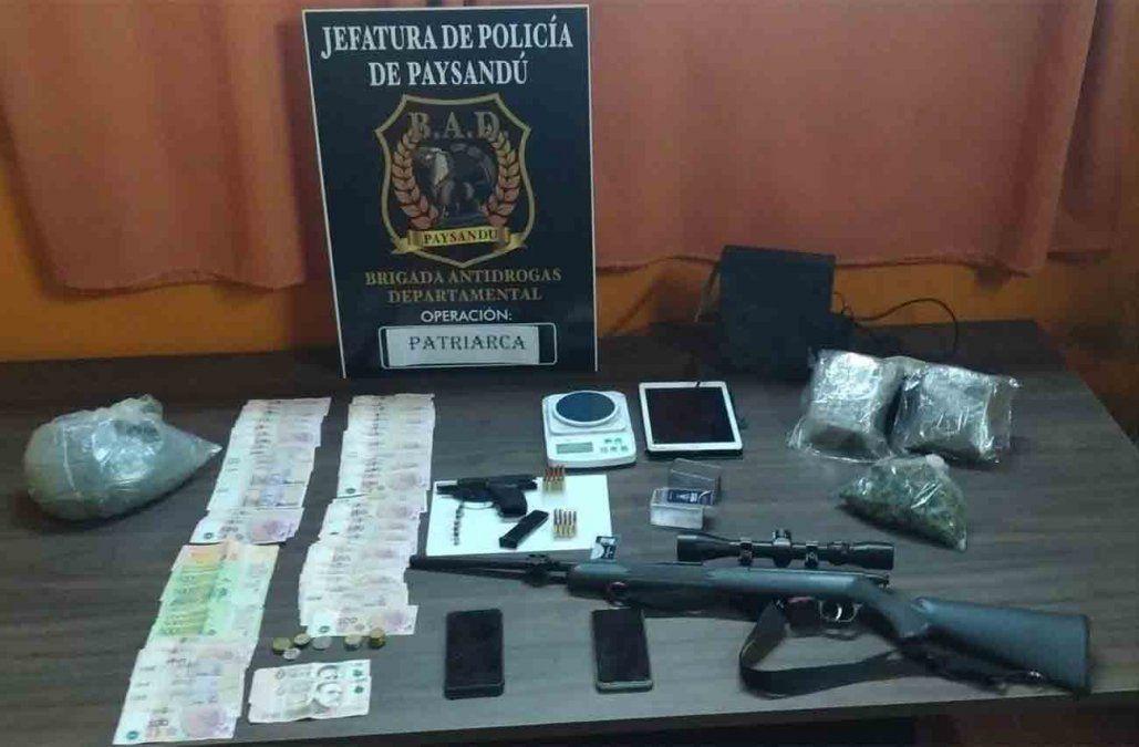 Incautaron una tonelada de marihuana en Paysandú; dos personas formalizadas