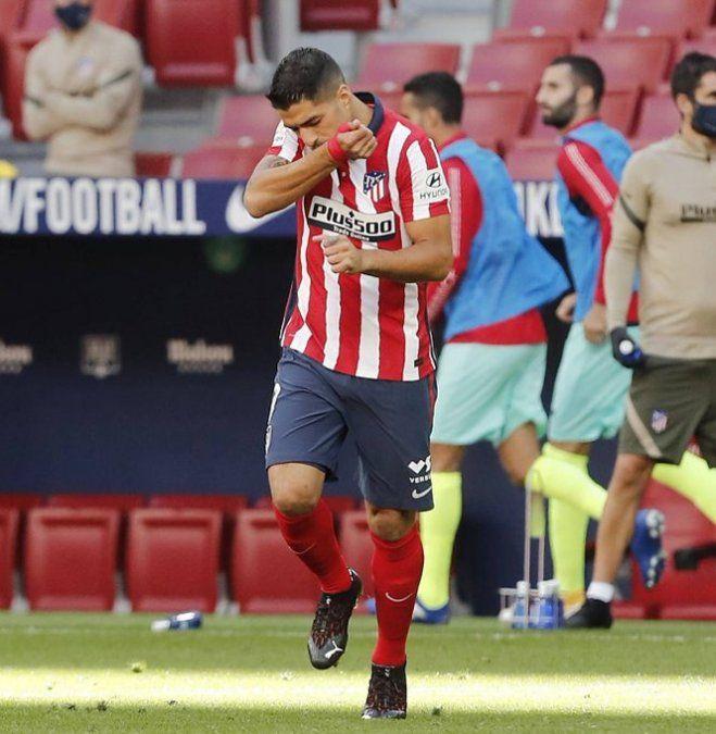 Doblete de Luis Suárez en su debut en Atlético Madrid