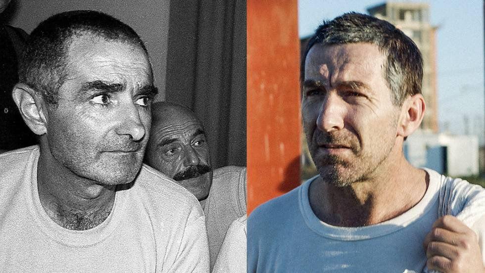 De la Torre personificando a Mujica. Vino a Uruguay para aprender a hablar en uruguayo antes de filmar.