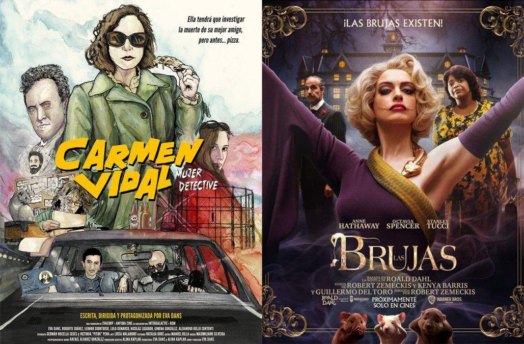 Carmen Vidal, mujer detective y Las brujas, los recomendados de cine