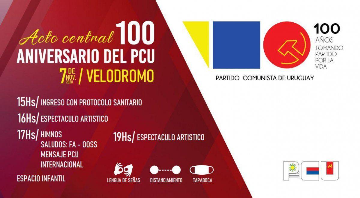 Se realiza acto homenaje al 100 aniversario del Partido Comunista este sábado