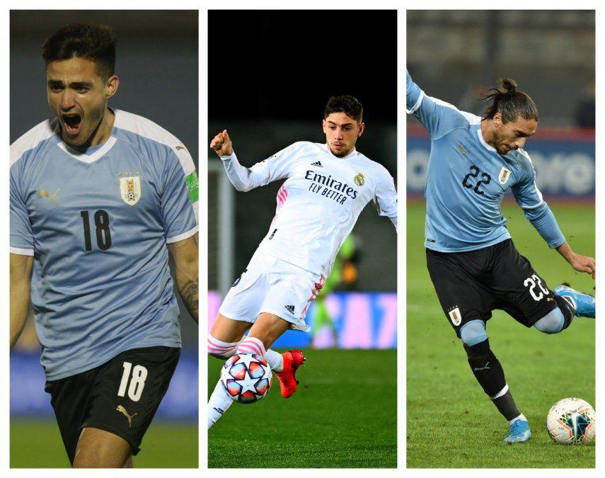 Pajarito Valverde, Maxi Gómez y Pelado Cáceres serán baja ante Colombia y Brasil por Eliminatorias