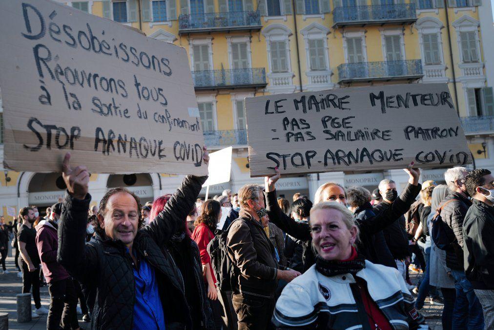 Protestas en Europa contra restricciones por pandemia, que pueden durar  meses