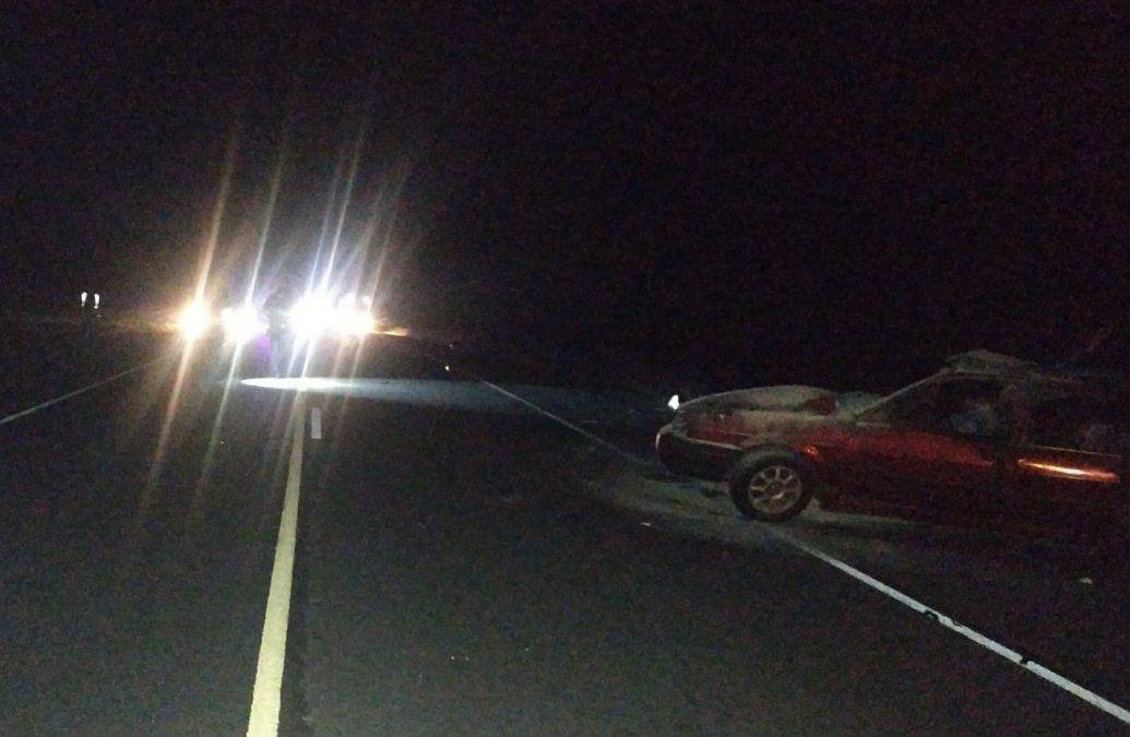 La camioneta involucrada en el accidente