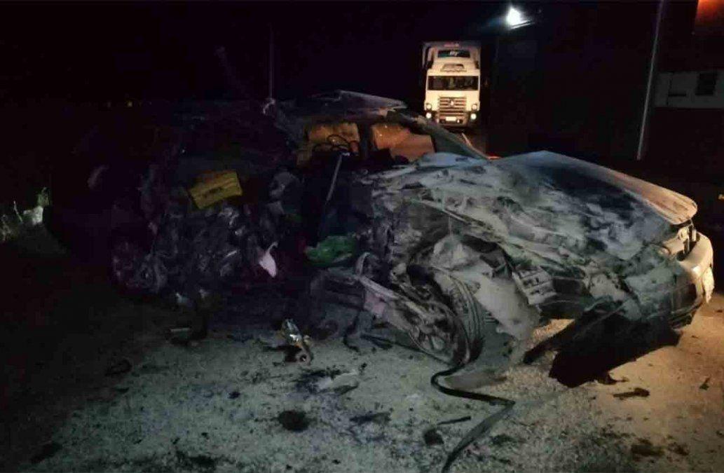 Tres fallecidos en accidente ocurrido en kilómetro 158 de la ruta 3