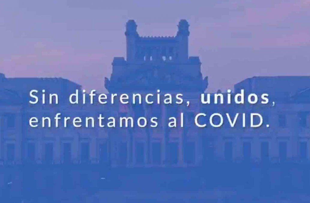 Políticos de todos los partidos se unen en una campaña por el Covid-19