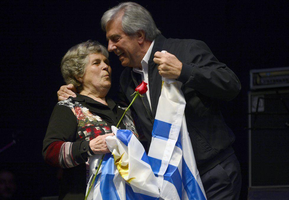 Vázquez junto a su esposa María Auxiliadora