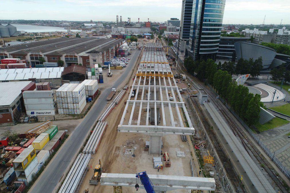 Avanza viaducto en rambla portuaria;  tendrá 1800 metros, un puente y seis carriles