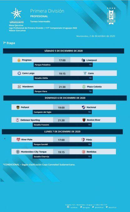Peñarol-Nacional se juega el domingo en el Campeón del Siglo a la hora 19