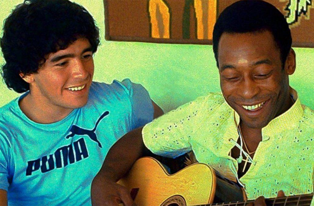 Te amo, Diego: el nuevo mensaje de Pelé a Maradona