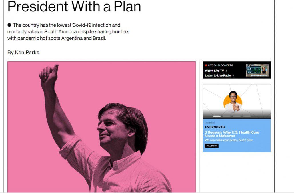 Bloomberg elige a Lacalle Pou como una de las personalidades de 2021