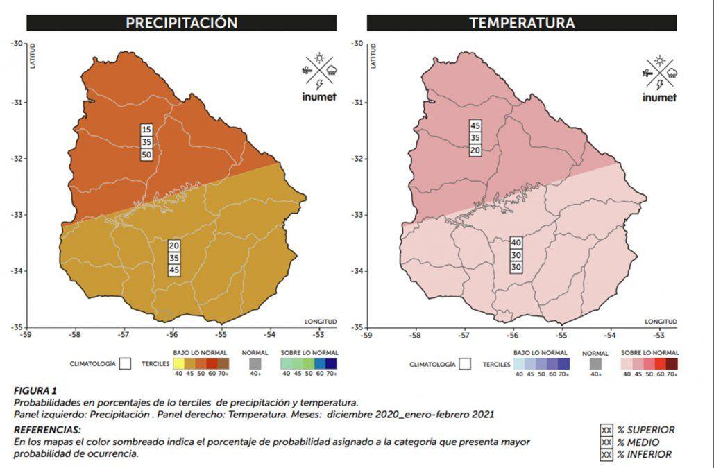 Diciembre a febrero con precipitaciones por debajo de lo normal y temperaturas altas