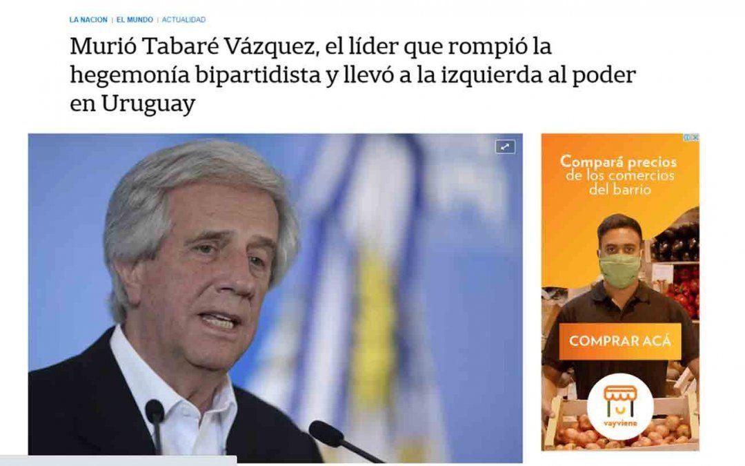Así reacciona al mundo tras el fallecimiento de Tabaré Vázquez