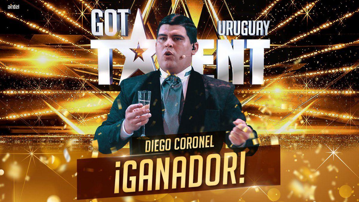 El cantante lírico Diego Coronel ganó la final de Got Talent por Canal 10