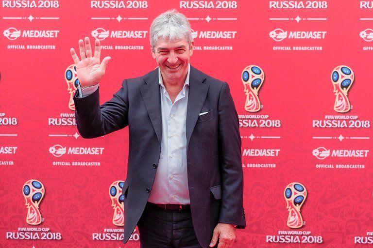 En 2018 fue al Mundial de Rusia como comentarista de la Tv italiana