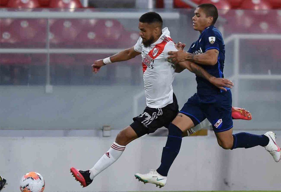 River le ganó 2 a 0 a Nacional en ida de cuartos de la Copa Libertadores