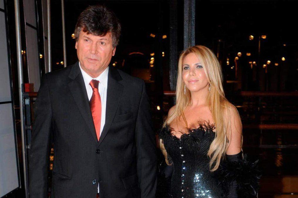 Con su exesposa Claudia Galucci. Ella lo acompañó hasta el final