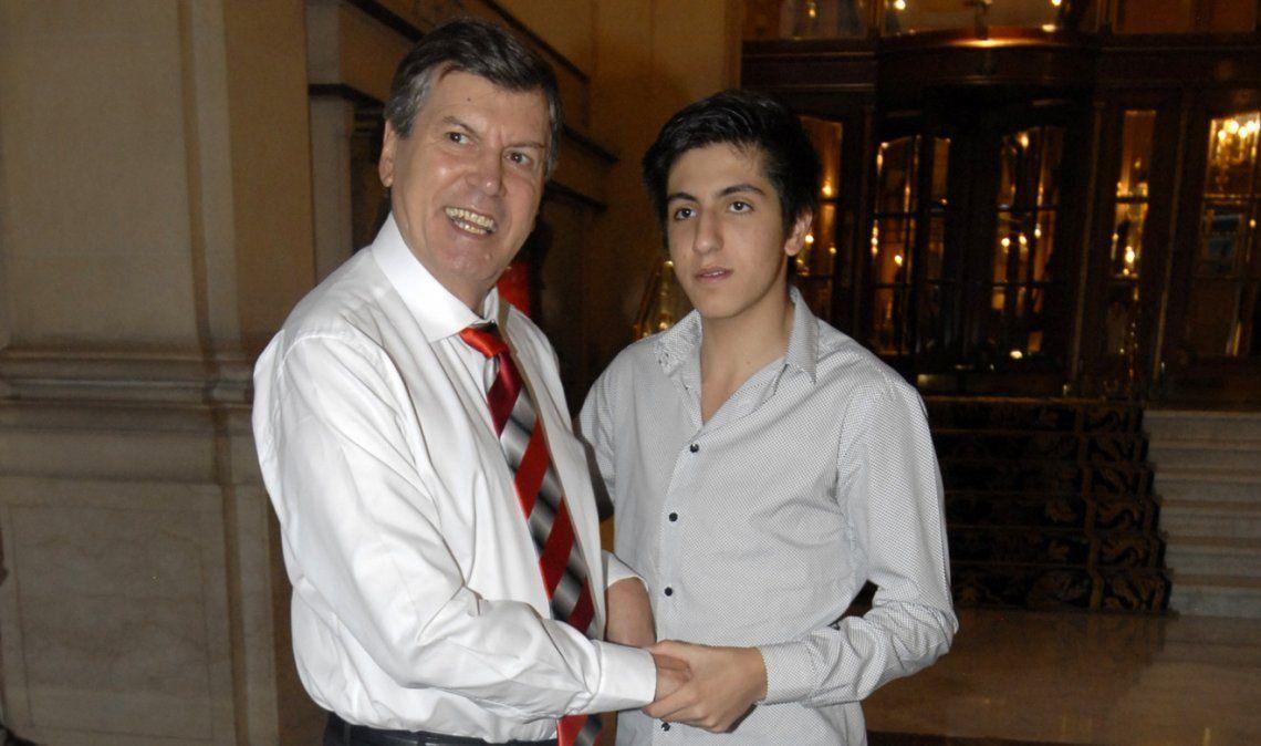 Con su hijo Facundo