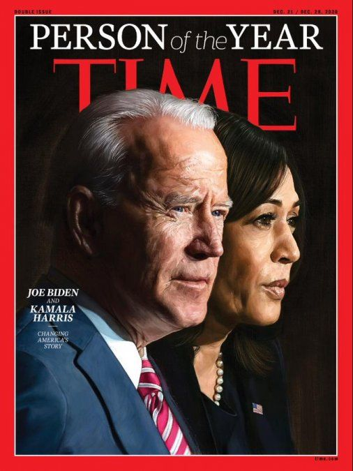 Joe Biden y Kamala Harris, personalidades del año 2020 para la revista Time
