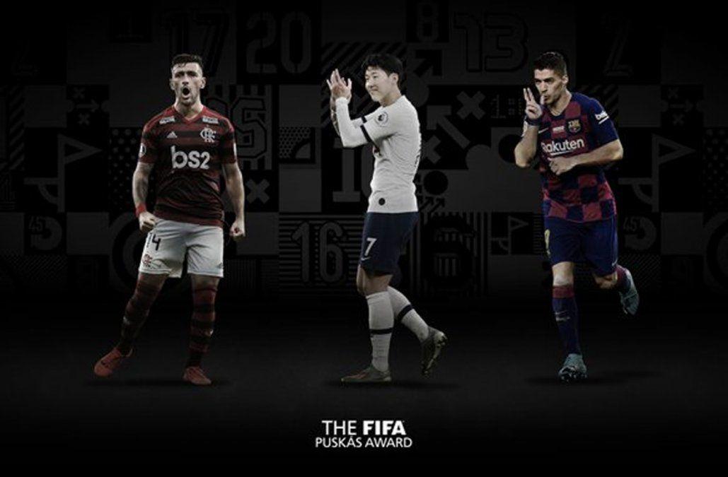 Suárez y De Arrascaeta son finalistas del premio Puskás al mejor gol del año