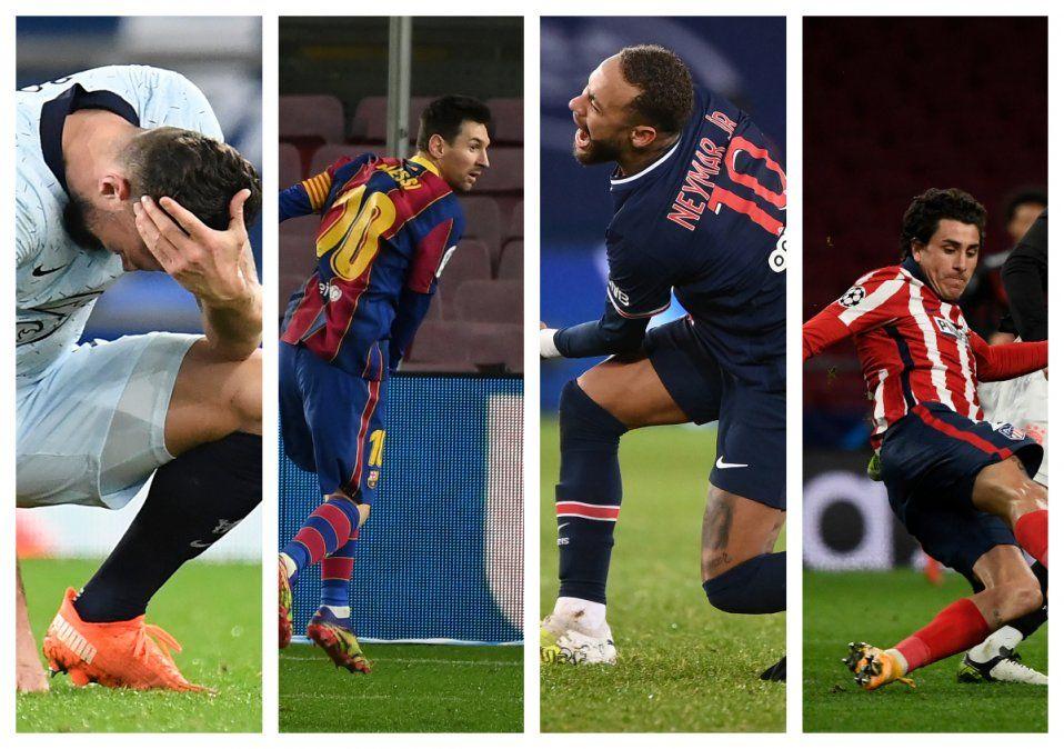 Barcelona-PSG y Atletico Madrid-Chelsea, en difíciles octavos de Champions para equipos españoles