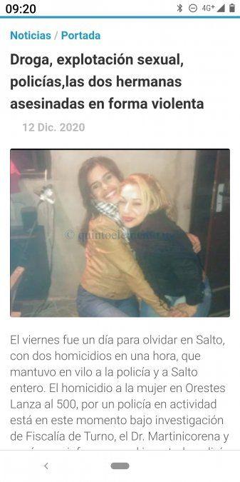 Las hermanas Cristina y Claudia