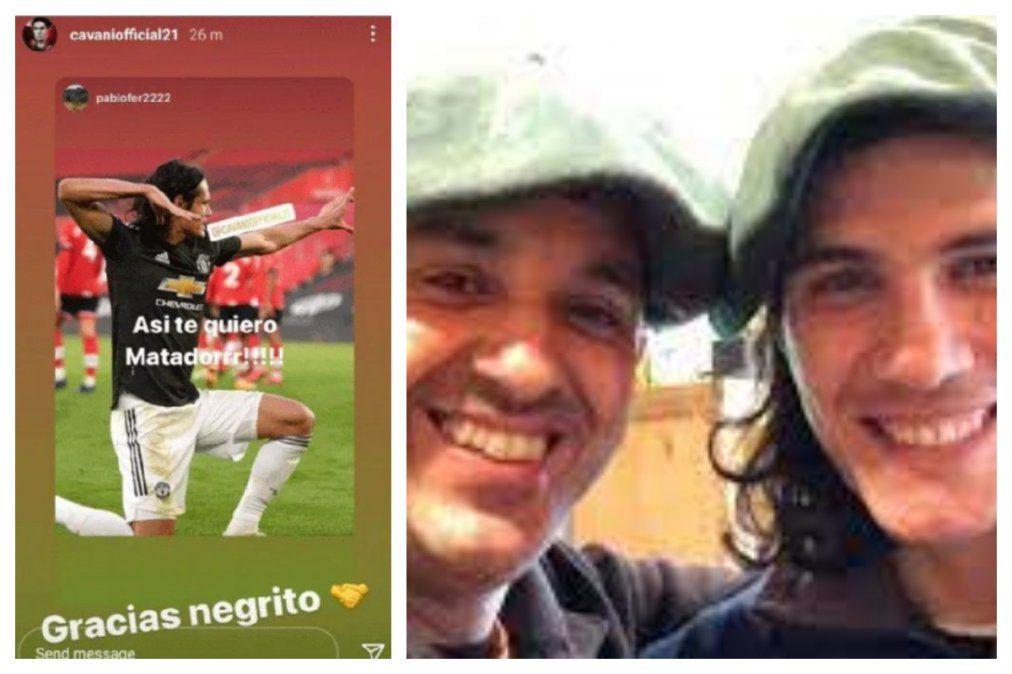El mensaje supuestamente racista de Cavani y el jugador junto al amigo a quien iba dirigido