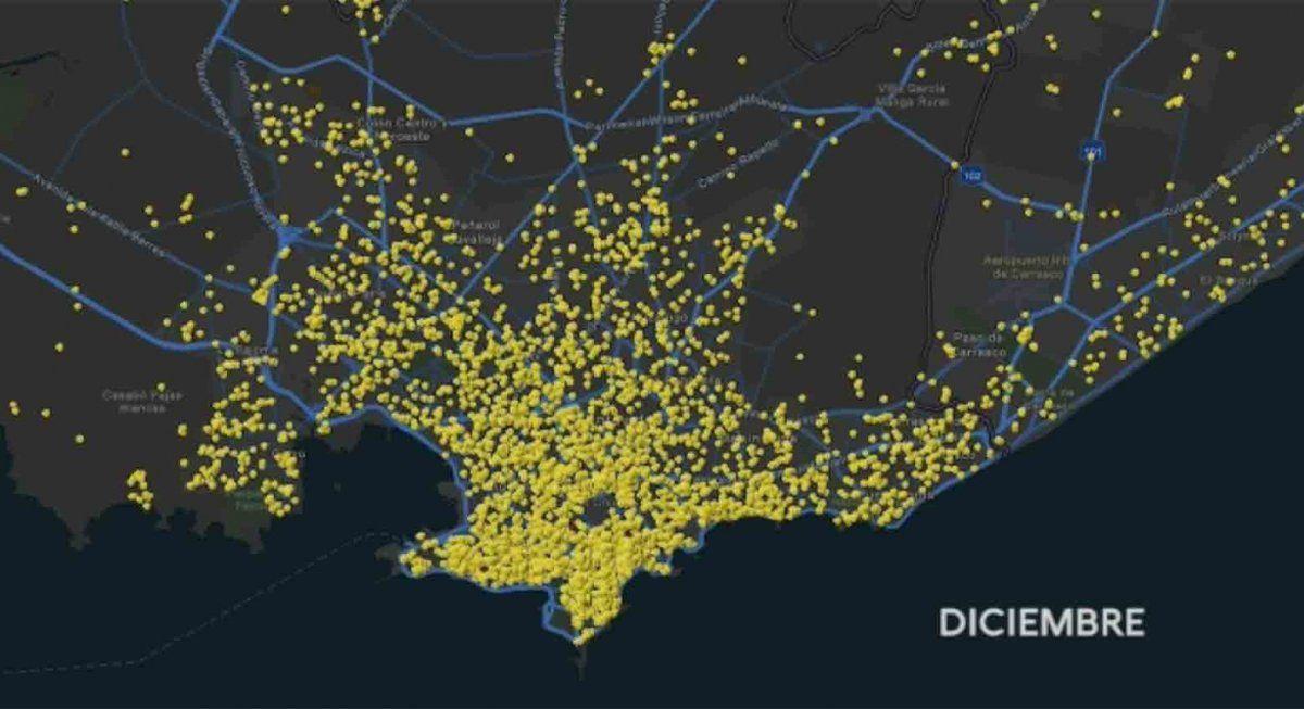 Sinae presentó la evolución de los casos de coronavirus en Montevideo