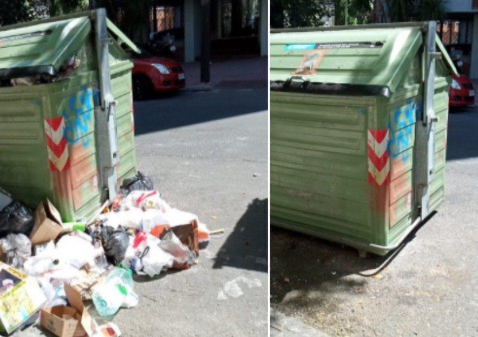 Intendencia comenzó limpieza de contenedores desbordados y lo mostró en redes sociales