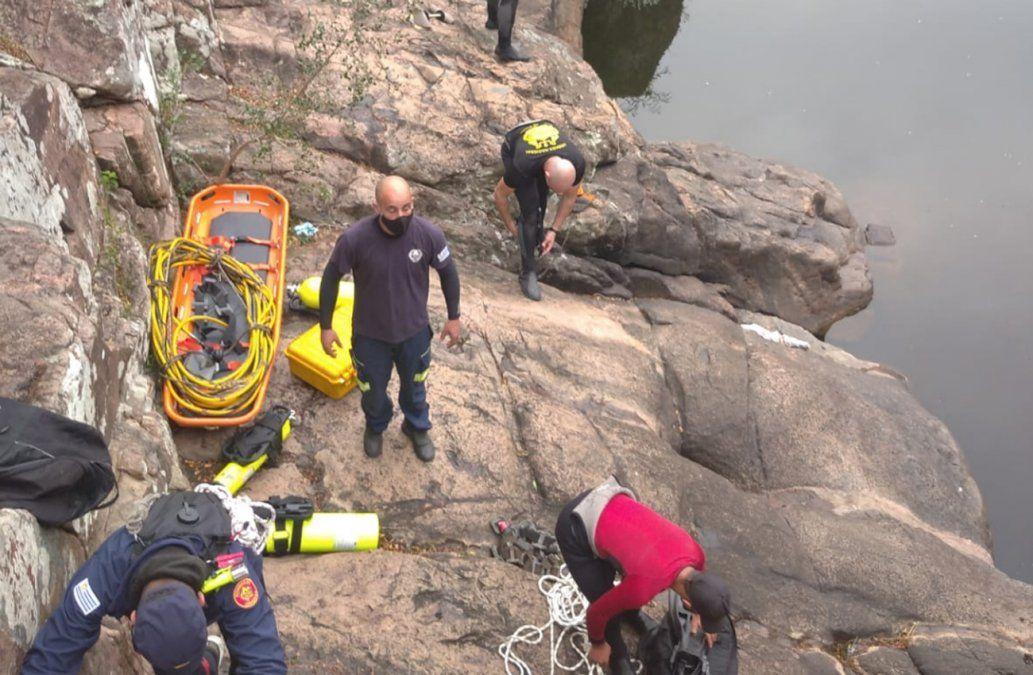 Apareció el cuerpo del jugador de fútbol desaparecido en aguas del Salto del Penitente