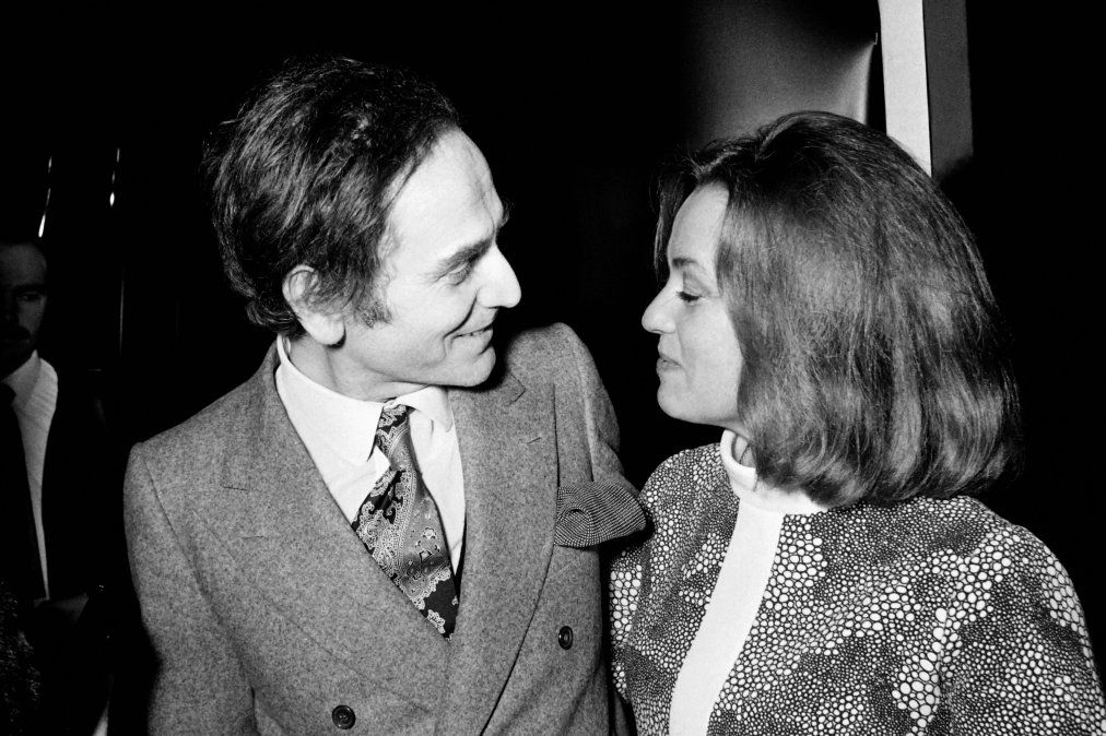 En 1970 con la actriz Jeanne Moreau