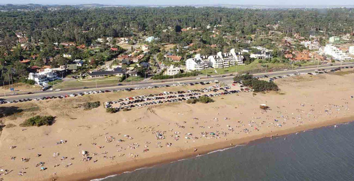Así se ven playas de Maldonado desde helicóptero del Ministerio del Interior