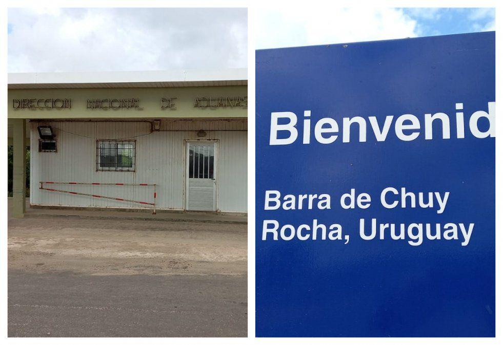 El local de Aduanas de Chuy cerrado. Según el intendente era un clamor popular correr el control hacia La Coronilla. El director de salud depatrtamental cree que puede ser un grave problema sanitario