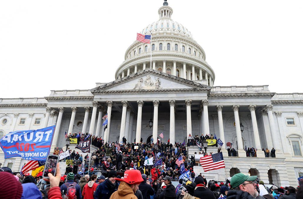 Lacalle Pou y demás jerarcas condenaron el asalto al Capitolio de EE.UU.
