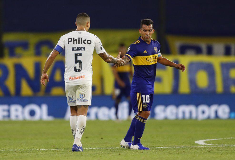 Santos rescató un empate ante Boca en La Bombonera y la semifinal se define en Brasil
