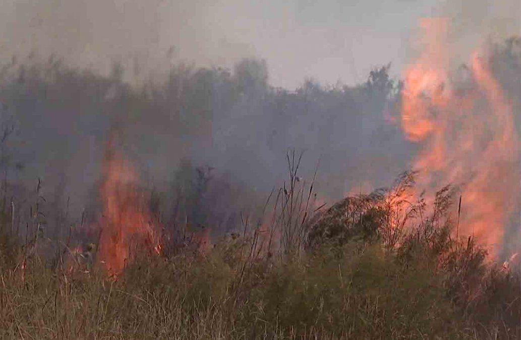 Incendio forestal en Villa San josé está controlado; afectó a un galpón