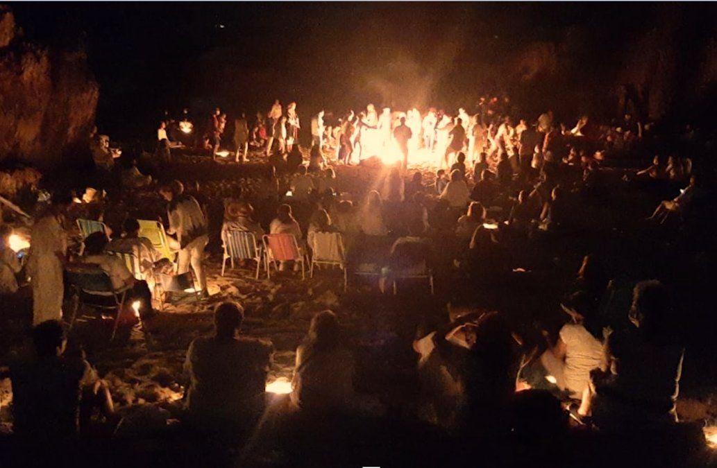 Disuelven fiesta de la Luna llena en las grutas de Punta Ballena con unas 200 personas